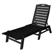POLYWOOD  Nautical Chaise Lounge ; Black