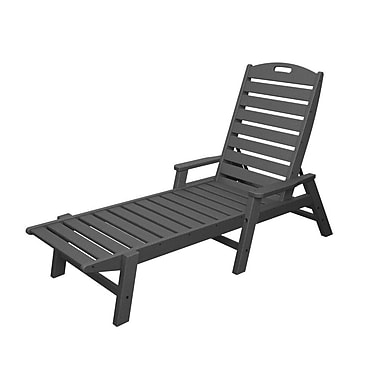 POLYWOOD Nautical Chaise Lounge; Slate Grey