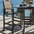 POLYWOOD  Coastal Bar Chair; Black / Burlap