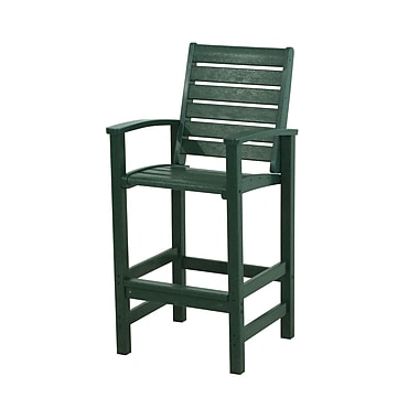 POLYWOOD Signature 30'' Bar Stool; Green