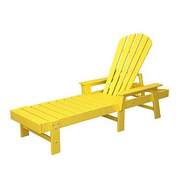 POLYWOOD South Beach Chaise Lounge; Lemon
