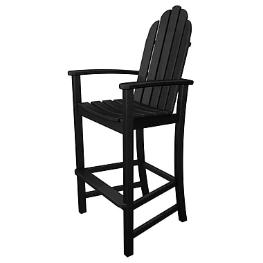 POLYWOOD Adirondack 30'' Bar Stool; Black
