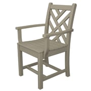 POLYWOOD  Chippendale Dining Arm Chair; Sand