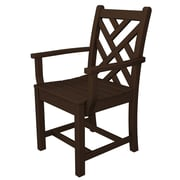 POLYWOOD  Chippendale Dining Arm Chair; Mahogany