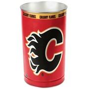 Wincraft NHL 4 Gallon Metal Trash Can; Calgary Flames