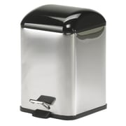 WS Bath Collections Complements Karta Waste Basket with Foot Pedal; Black