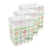 Clean Cubes LLC Party Pattern 10 Gallon Recycling Waste Basket (Set of 3)