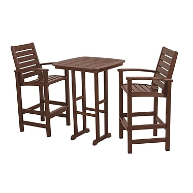 POLYWOOD Signature 3 Piece Bar Set; Mahogany