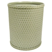 Redmon Chelsea Decorator Round Wicker Wastebasket; Sage Green