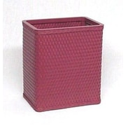 Redmon Chelsea Decorator Square Wicker Wastebasket; Raspberry