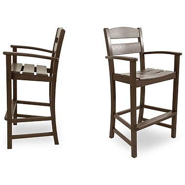Ivy Terrace Classics 30.13'' Bar Stool (Set of 2); Mahogany