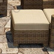 Forever Patio Cypress Ottoman with Cushion; Spectrum Mushroom / Spectrum Sand Welt