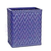 Redmon Elegante Decorator Wicker Wastebasket; Sky Blue