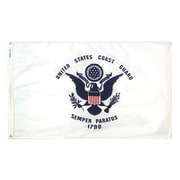 Annin & Co Armed Forces United States Coast Guard Traditional Flag; 3' x 5'