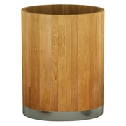 NU Steel Ageless 1.75 Gallon Wood Trash Can