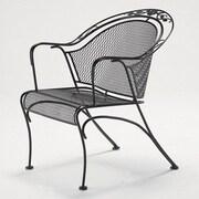 Woodard Windflower Barrel Dining Arm Chair; Textured Cypress