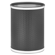 Kraftware San Remo 3.25 Gallon Metal Trash Can; Black