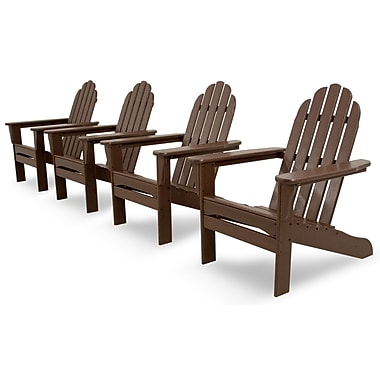 Ivy Terrace Ivy Terrace Classics 4 Piece Adirondack Seating Group; Mahogany