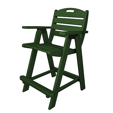 POLYWOOD Nautical 24.5'' Bar Stool; Green