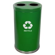 Witt Metal Recycling 36-Gal Two Opening Multi Compartment Recycling Bin; Green