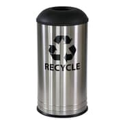 Ex-Cell Metal Products 18-Gal Stainless Steel Indoor Industrial Recycling Bin; Black Texture