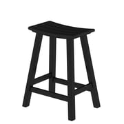POLYWOOD  Traditional 24'' Bar Stool; Black