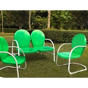 Crosley Crosley Griffith 3 Piece Seating Group; Grasshopper Green