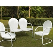 Crosley Crosley Griffith 3 Piece Seating Group; White