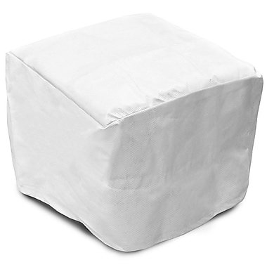 KoverRoos DuPont Tyvek Square Ottoman / Small Table Cover; 16'' H x 26'' W x 26'' D