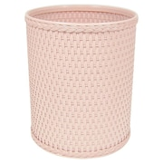 Redmon Chelsea Decorator Round Wicker Wastebasket; Tea Rose