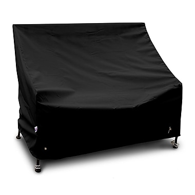 KoverRoos Weathermax Highback Loveseat/Sofa Cover; Black