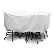 KoverRoos Weathermax  Large Bar Set Cover w/ Umbrella Hole; White