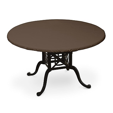 KoverRoos Weathermax Oval Table Top Cover; Chocolate