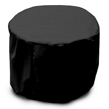 KoverRoos Weathermax Round Table Cover; Black