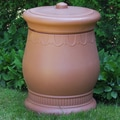 Good Ideas Savannah 30-Gal. Urn Storage and Waste Bin; Terra Cotta