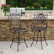 Home Loft Concept Parma Cast Aluminum Outdoor Bar Stool (Set of 2) (Set of 2)