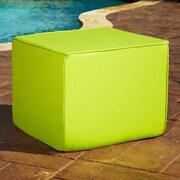 Mozaic Company Sunbrella Indoor/ Outdoor Ottoman; Macaw Green
