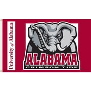 BSI Products NCAA Traditional Flag; Alabama - Elephant Logo on Red