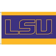 BSI Products NCAA Traditional Flag; LSU - LSU Logo on Blue & Yellow