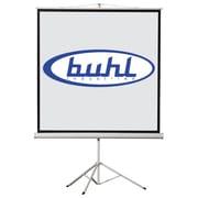 Buhl Matte White Portable Projector Screen; 80'' H x 80'' W