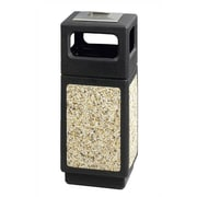 Safco Products Canmeleon Ash/Trash Square Receptacle, 15 Gal; Black