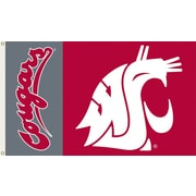 BSI Products NCAA Traditional Flag; Washington State - Cougars Logo on Red