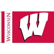 BSI Products NCAA Traditional Flag; Wisconsin - ''W'' Logo on Red