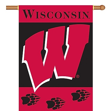 BSI Products NCAA 2-Sided Banner; Wisconsin