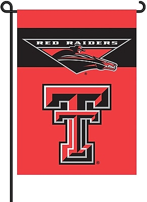 BSI Products NCAA 2-Sided Garden Flag Set; Texas Tech WYF078275868093