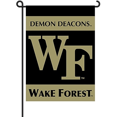 BSI Products NCAA 2-Sided Garden Flag Set; Wake Forest