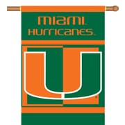 BSI Products NCAA 2-Sided Banner; Miami