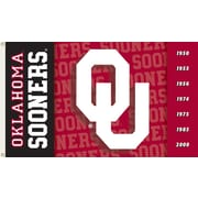 BSI Products NCAA Traditional Flag; Oklahoma - OU Logo on Red (Two Sided)