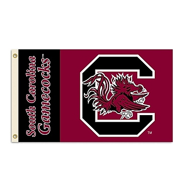 BSI Products NCAA Traditional Flag; South Carolina - C Logo on Red