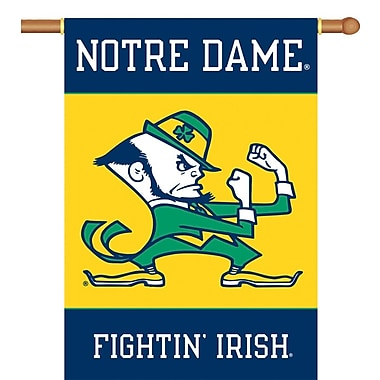 BSI Products NCAA 2-Sided Banner; Notre Dame - Fighting Irish Mascot